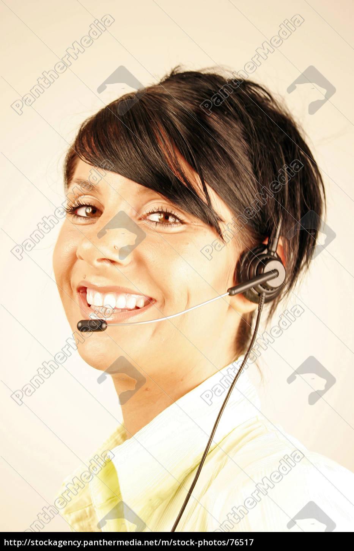 call, center, girl, 2 - 76517