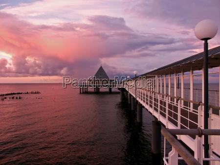pier, at, sunset - 130772
