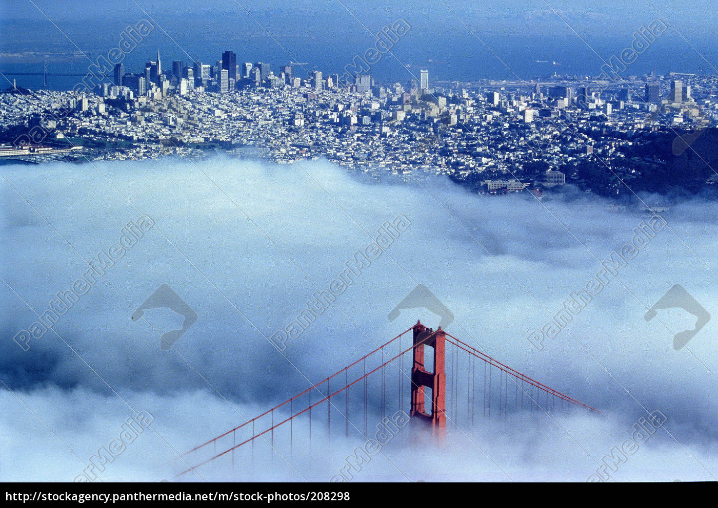 golden, gate, bridge, with, sf, downtown - 208298