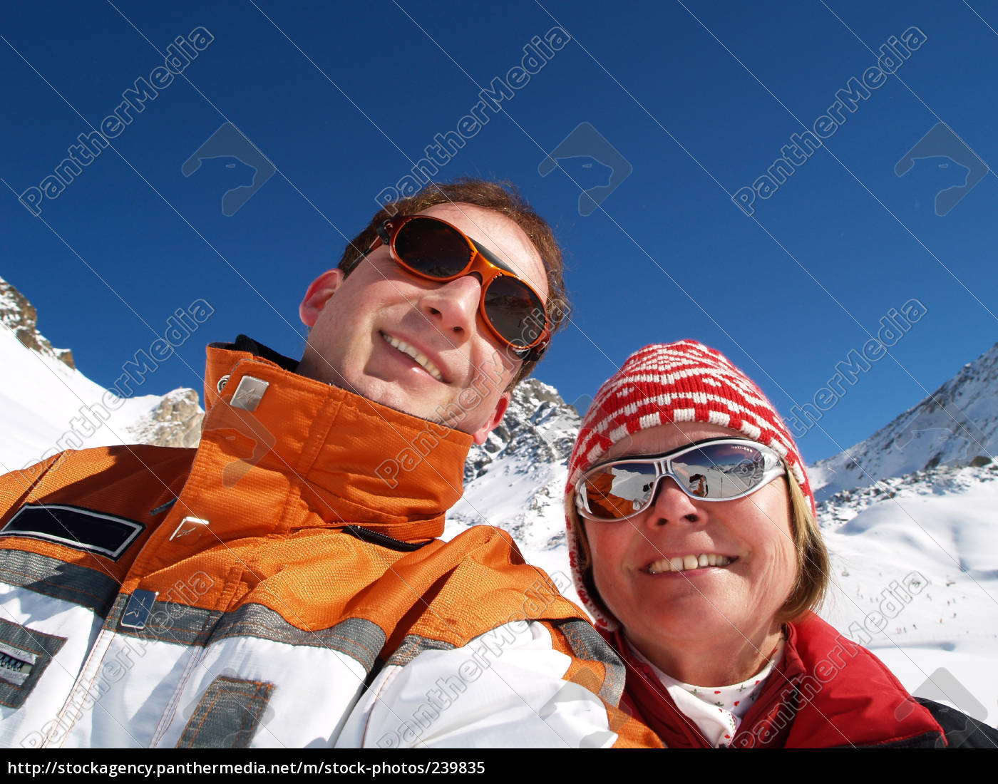 skiers, greeting - 239835