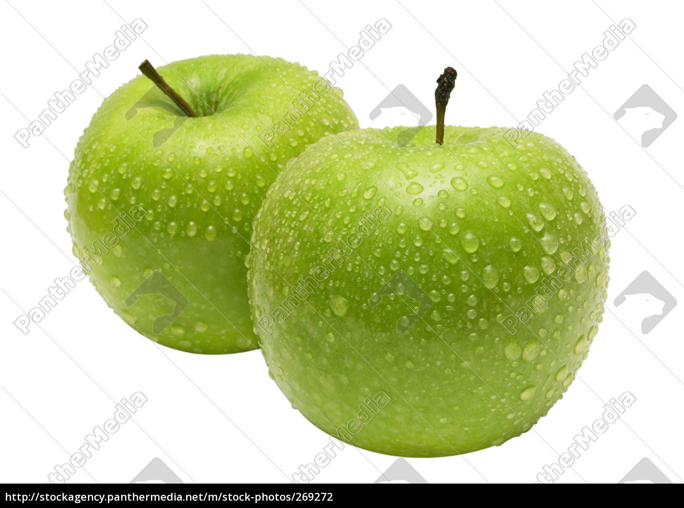 wet, green, apples, next, to, each - 269272