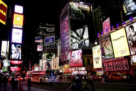 ny times square en la noche