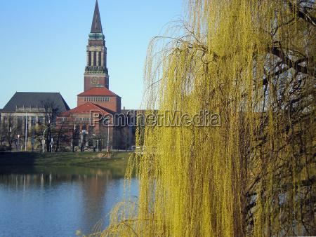 kiel, city, hall, in, spring - 1149799