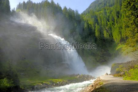 austria cachoeira krimml tauern gerlos oesterreich