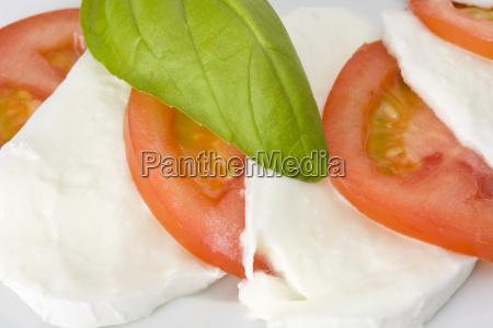 tomaten mozzarella basilikum