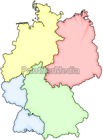 divided germany colored