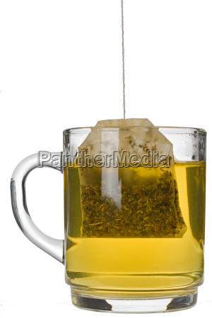 cup glass chalice tumbler tea bag