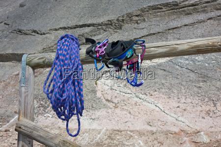 climbing equipment at entry