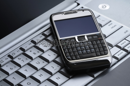 smart cell phone on a silver