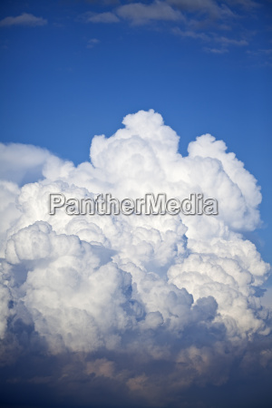 thunder cloud and blue sky