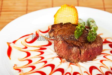 steak auf sossenspiegel