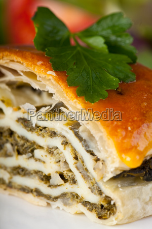 spinach strudel with parsley