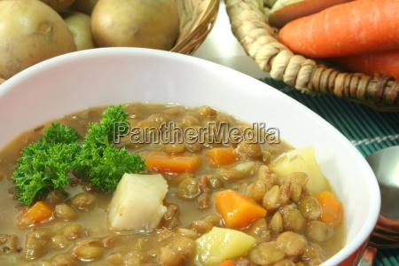 lens parsley mulligan plain fare soup