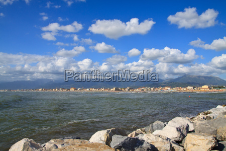 coast of the versilia viareggio tuscany