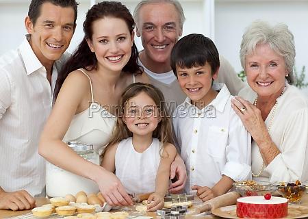portrait of parents grandparents and children