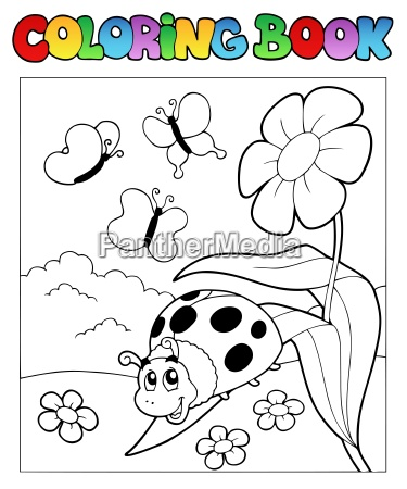 coloring book with ladybug 1