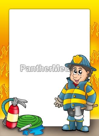 marco de proteccion contra incendios con