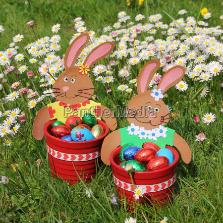 two easter baskets