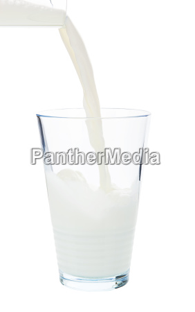 pouring milk isolated