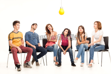 light, bulb, pondering, - 5204149