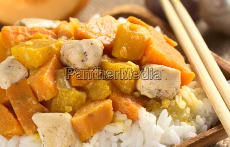 chicken pumpkin and sweet potato curry
