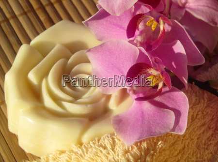 massagebar mit orchidee
