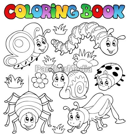 coloring book cute bugs 1