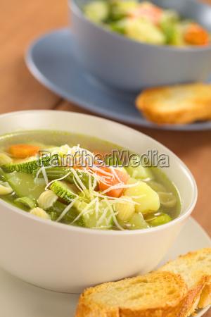 fresh minestrone soup