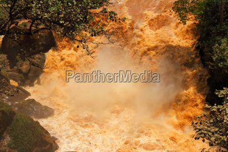 muddy water fall