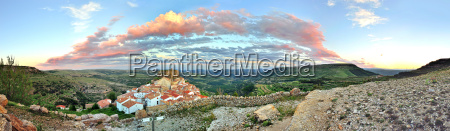 sunset landscape mountain view of the