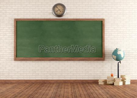 empty vintage classroom