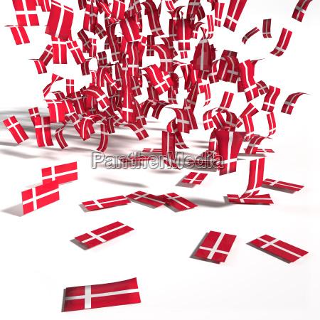 muitas etiquetas e bandeiras de dinamarca