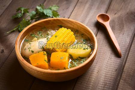 traditional chilean cazuela soup