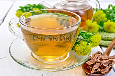 tea of rhodiola rosea in cup
