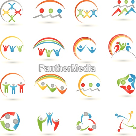 people logos collection team