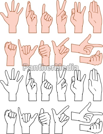 universal hand signs gestures