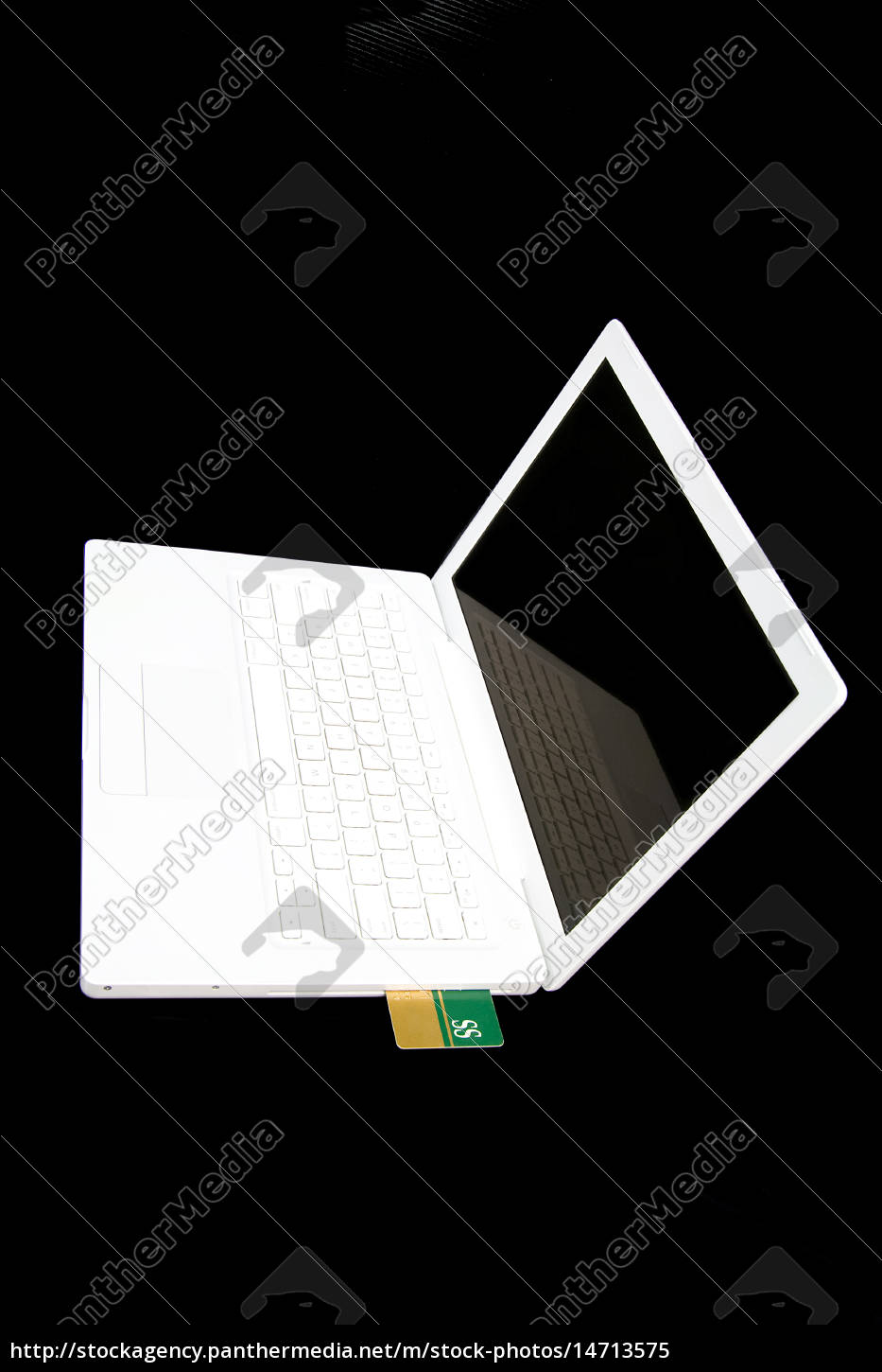 credit, card, in, white, laptop - 14713575