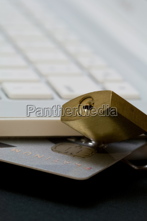 credit, card, in, white, laptop - 14713579