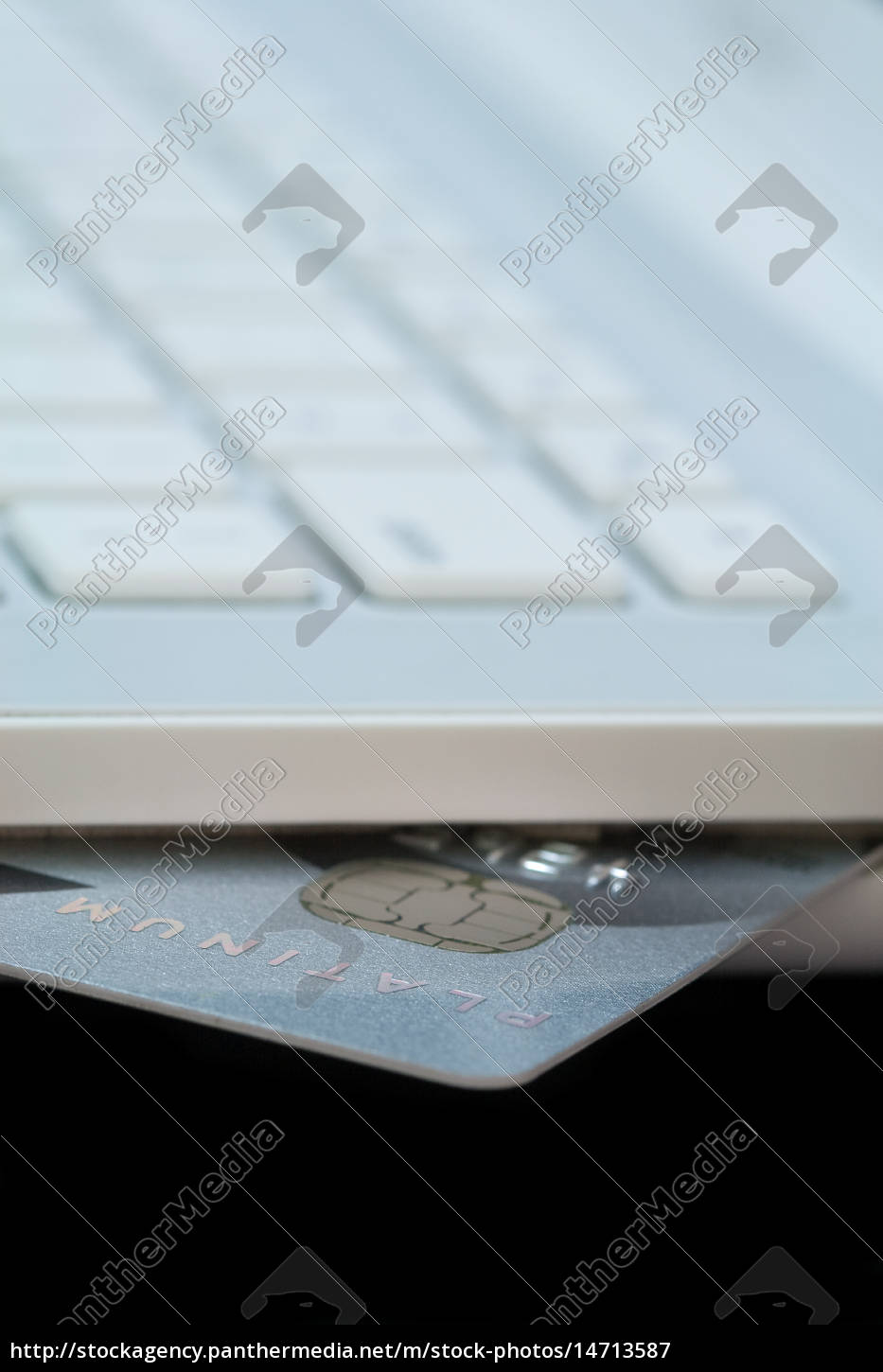 credit, card, in, white, laptop - 14713587