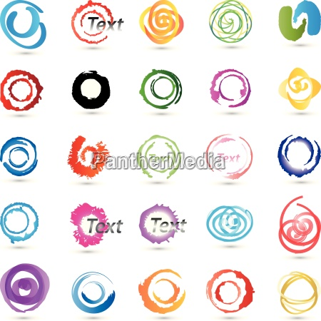 circlesspirals collectioncolored