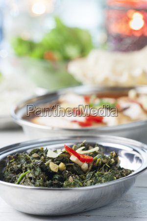 indisches spinat curry