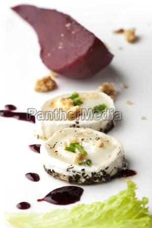 rotwein birnen und ziegenkaese