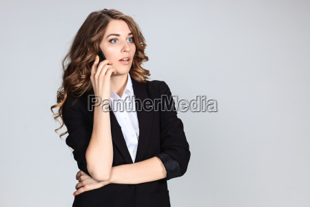 portrait of young woman with phone