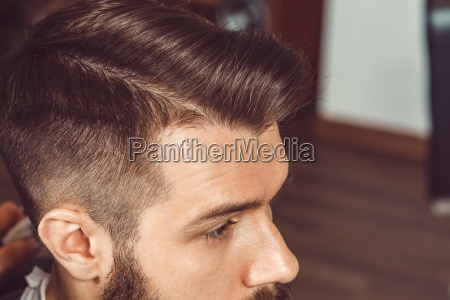 the profile of young man