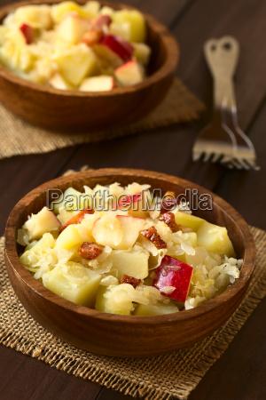 potato sauerkraut and apple salad