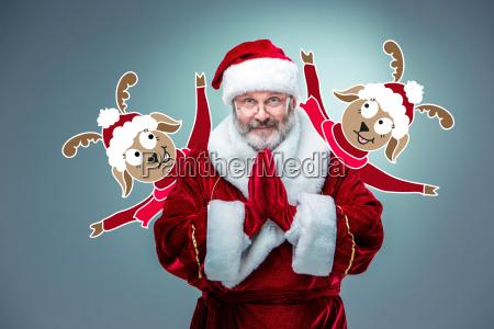 happy smiling santa claus