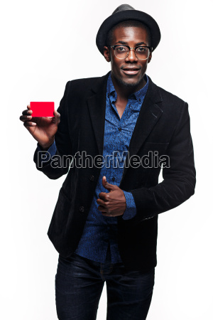 the black man with credit card