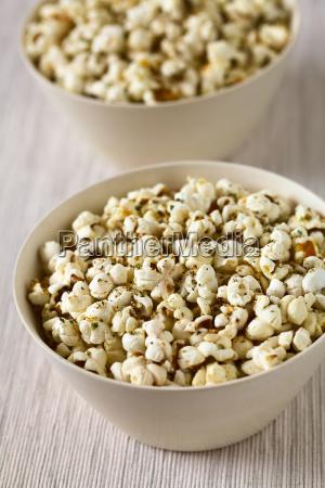 popcorn, with, cheese, , garlic, and, oregano - 19825567