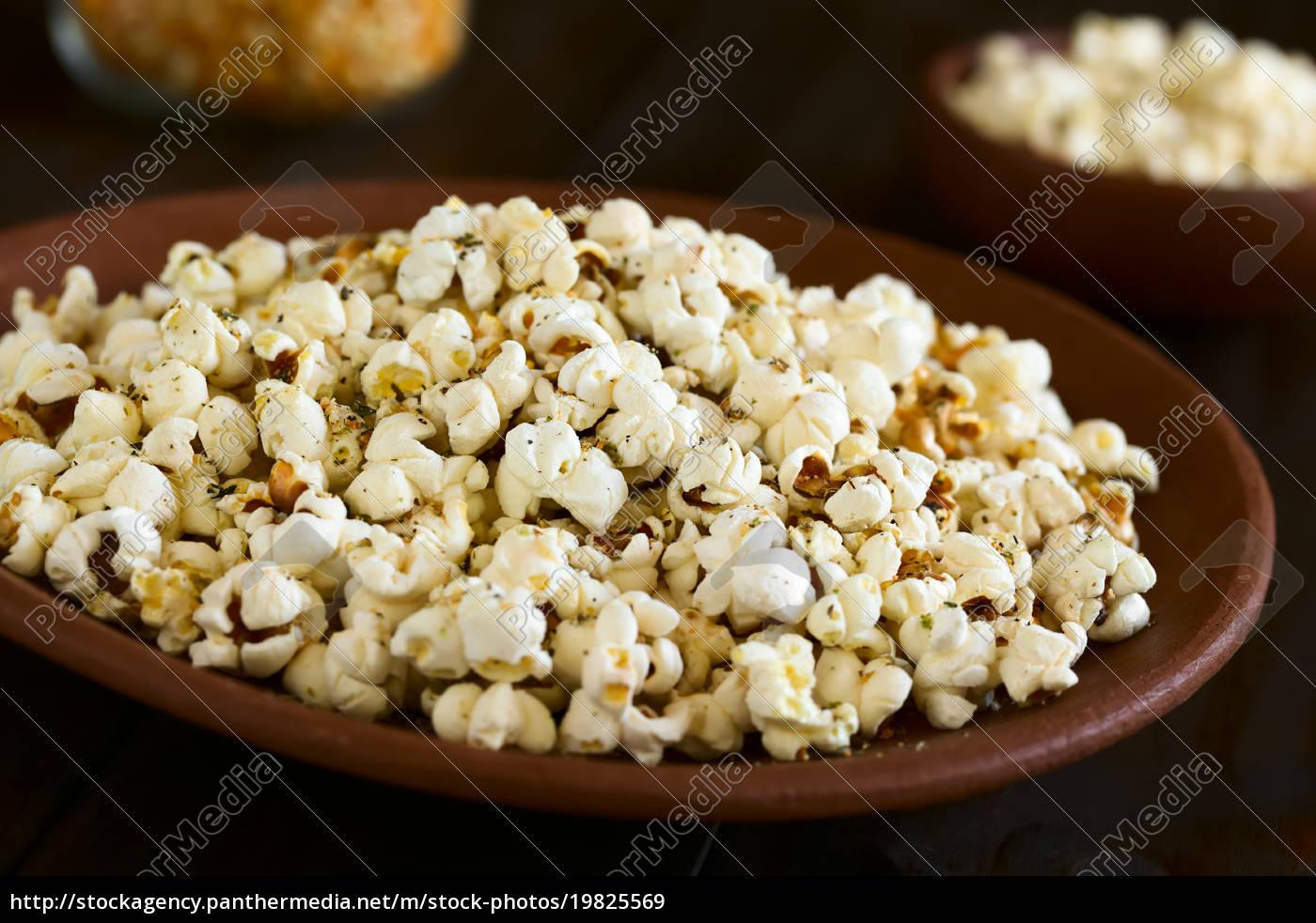 popcorn, with, cheese, , garlic, and, oregano - 19825569