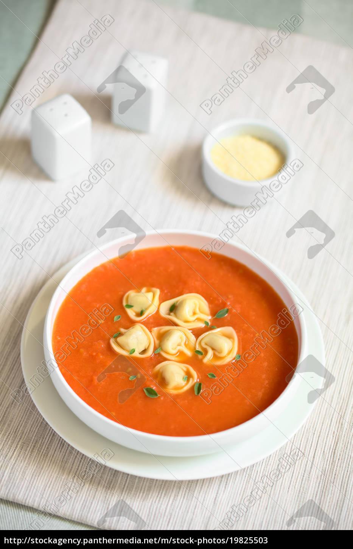 tomato, soup, with, tortellini - 19825503
